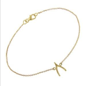 18k gold Jennifer Meyer wishbone bracelet